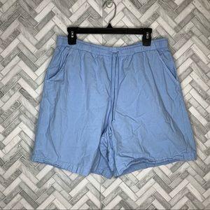 Vintage Erika baby blue drawstring shorts